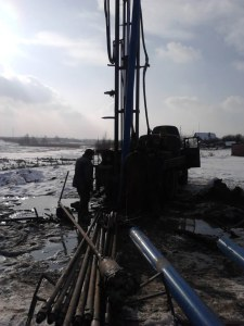 фото с работ по бурению промышленной скважины